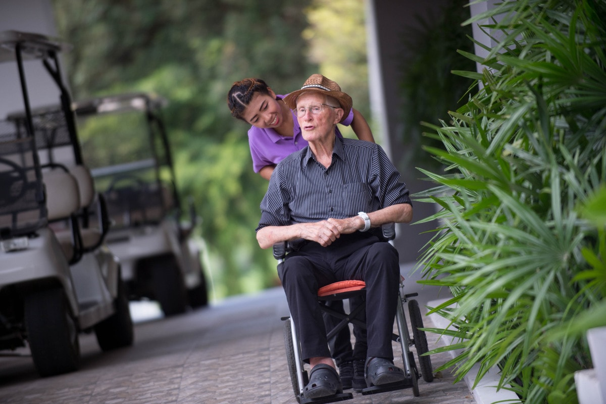 Care in case of physical disability